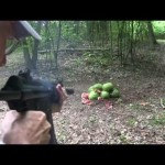 Suppressed MP5 vs Watermelons