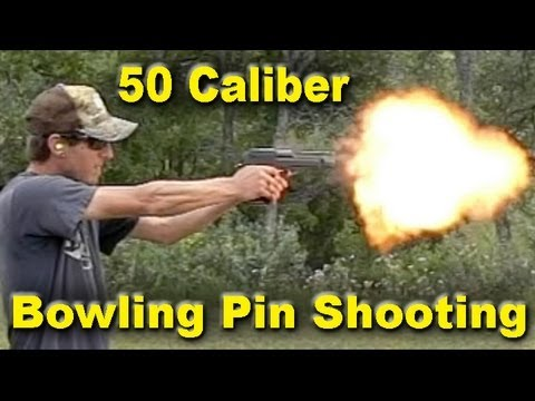 50 Caliber Shooting Bowling Pins