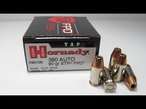 Hornady TAP FPD 380 Auto 90 Grain XTP FPD Ballistics Test