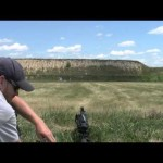 Kel Tec RFB Engaging 200 Yd Steel Target with Iron Sights