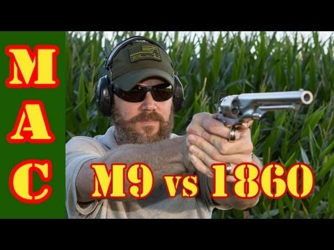 Ballistic Performance Testing - M9 vs 1860 Army