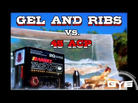Ballistics Test - Barnes TAC-XPD 45acp vs Gel and Bone