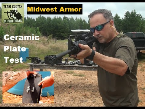 Ceramic Body Armor Testing - Midwest Armor Guardian IV Plates