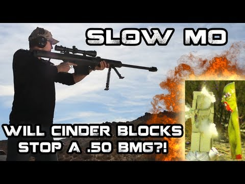 Do Cinder Blocks Stop 50 BMG