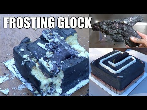 Cake Decorating Frosting Gun : Frosting Glock - Tactical Cake Decorating 101 - Gun Videos