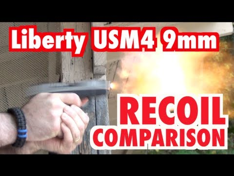 Liberty USM4 9mm - Recoil Comparison