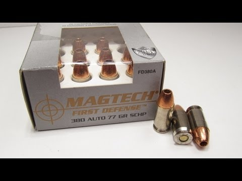 Ballistics Test - Magtech First Defense 380 Auto 77 Grain SCHP