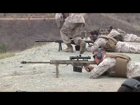 Marines Training with .50 Caliber Sniper Rifles