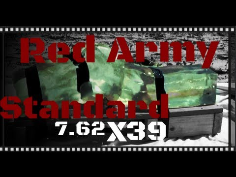 Red Army Standard 7.62x39 123gr FMJ Ballistics Gel Test and Review