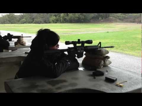 Shooting an AR-15 with Leupold 3-9x40 Mark AR Rifle Scope