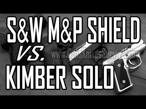 S&W M&P Shield vs Kimber Solo Carry STS