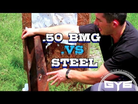 50 BMG Armor Piercing Incendiary Rounds vs Steel