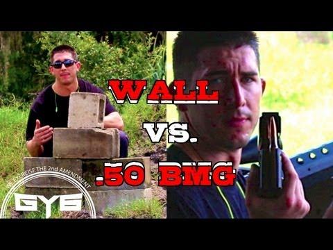 Serbu 50 BMG Rifle vs Cinder Block Wall