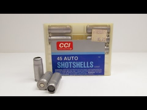 CCI 45 Auto Shotshells - Ballistics Gel Test