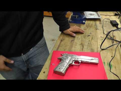 Engraved Colt 1911 Grip Update