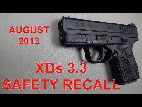 Handgun Recall – Springfield XD-S