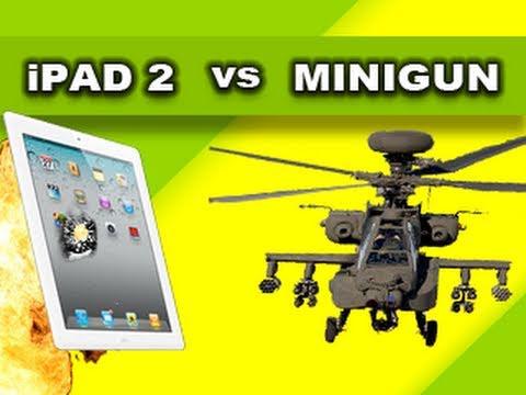 M134 Minigun vs iPad2