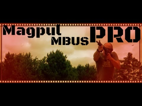 Magpul MBUS Pro All Steel AR-15 Back Up Iron Sights Review