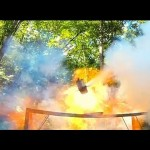 Propane Bottle Explosion In Slow Motion