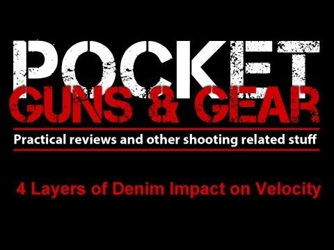 Velocity Impact of 4 Layers of Heavy Denim on 9mm