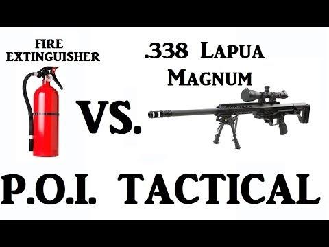 338 Lapua Magnum vs Fire Extinguisher