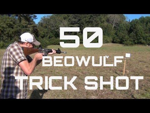 50 Beowulf Trick Shot