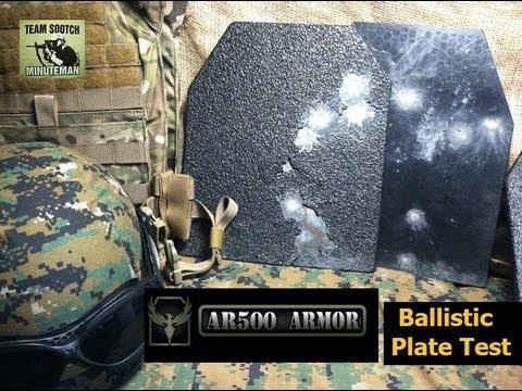 AR500 Armor Ballistic Plate Shooting Test