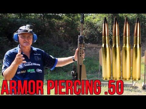 Barrett 50 Cal Armor Piercing Round Testing