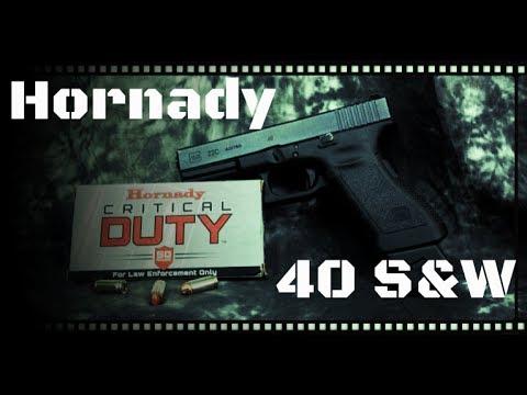Hornady Critical Duty 40 S&W 175gr JHP Ballistics Gel Test