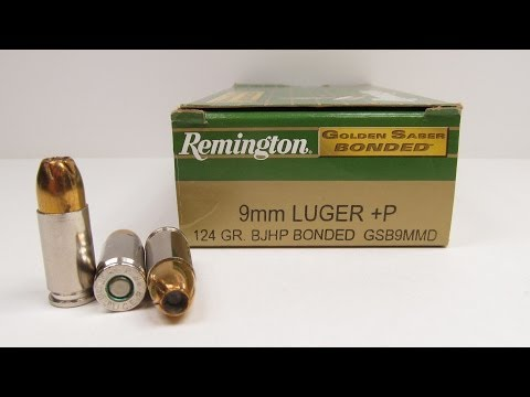 Remington Golden Saber Bonded 9mm +P Ammo Test
