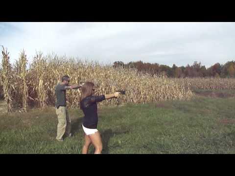 Shooting Glocks with Cory and Erika