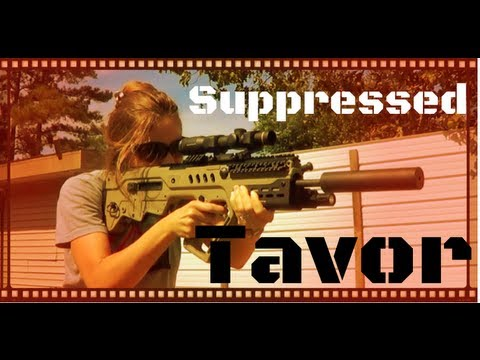 Suppressed IWI Tavor Bullpup Battle Rifle Review