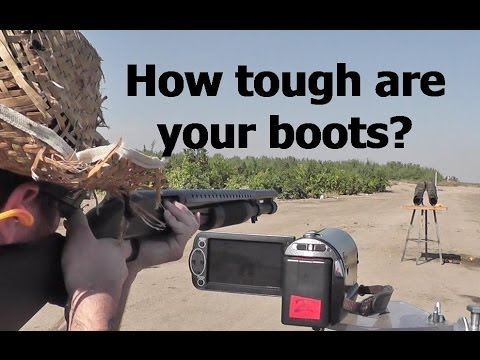 12 Gauge Slugs vs Steel Toe Boots