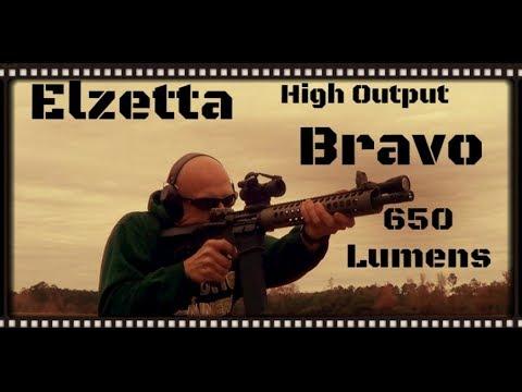 AR-15 Mounted Elzetta High Output Bravo Flashlight