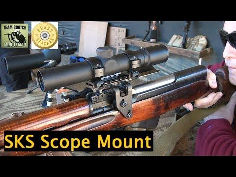 Brass Stacker SKS See Thru Scout Scope Mount