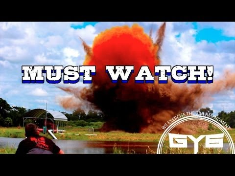 In the Red Exploding Targets – Massive Mountain Explosion