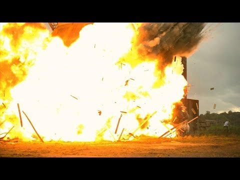 Slow Motion Fragmentation Grenade Explosions