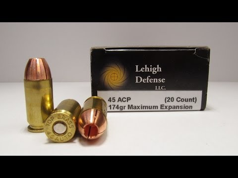 Ammo Test – Lehigh Defense 45 ACP Maximum Expansion