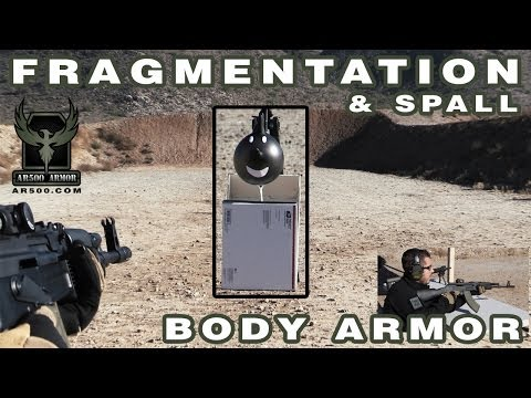 AR500 Armor Spall and Fragmentation Test