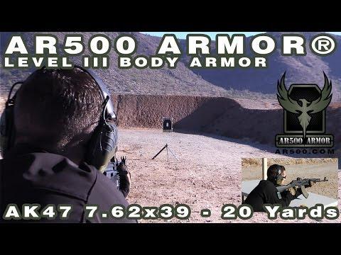 AR500 Armor vs AK 7.62x39