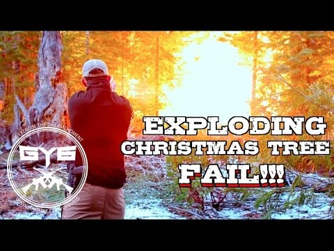 Cutting a Christmas Tree with Exploding Targets