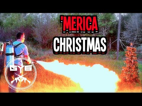 Flamethrower Christmas Tree