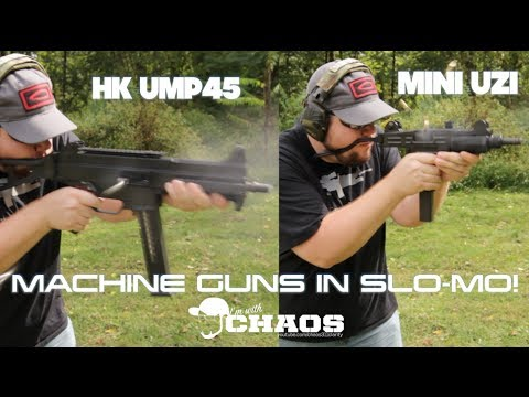 HK UMP45 and Mini UZI Full Auto Fire