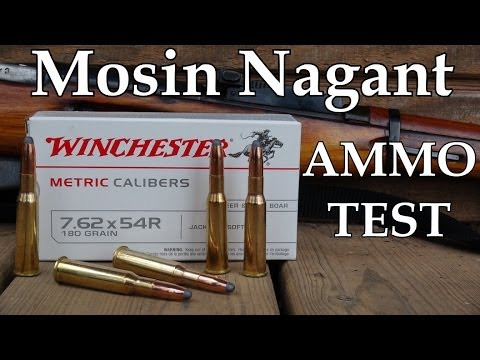 Mosin Nagant Ammo Test - Winchester 7.62 x 54R 180 Grain Soft Point