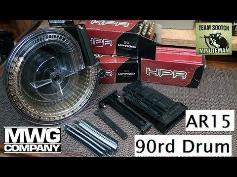 MWG 90 Round AR-15 Drum Magazine
