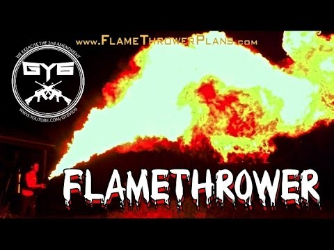 Flamethrower Plans