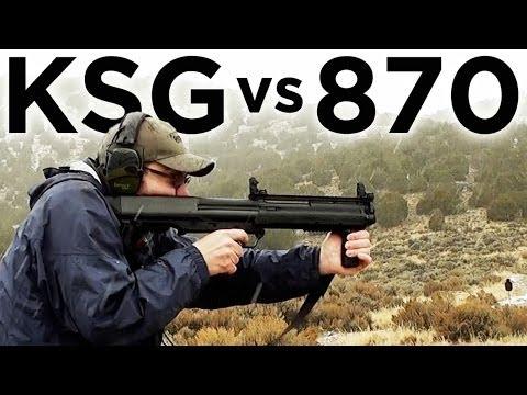 Tactical Shotgun Comparison - Kel-Tec KSG vs Remington 870