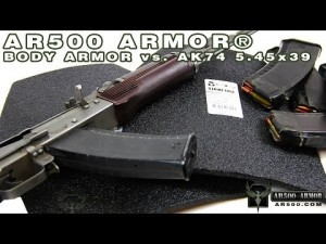 AR500 Armor vs AK74 5.45x39 Steel Core