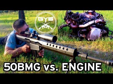Armor Piercing 50BMG Incendiary vs Car Engine