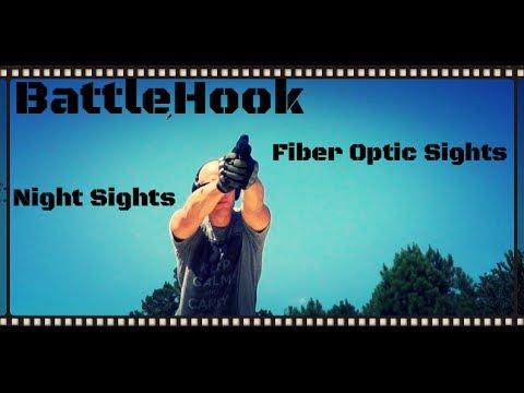 Battlehook Night Sights and Fiber Optic Sights for Glock Pistols